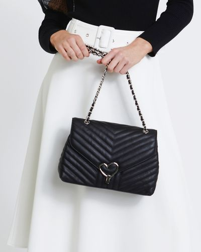 Savida Heart Buckle Quilted Bag