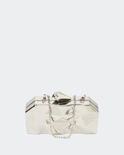 Savida Silver Clutch Bag