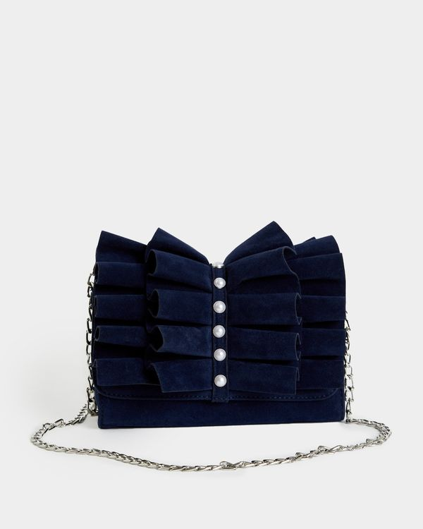 Savida Ruffle Pearl Handbag