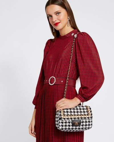 Savida Houndstooth Handbag