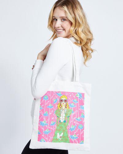 Savida Glitter Printed Tote Bag thumbnail