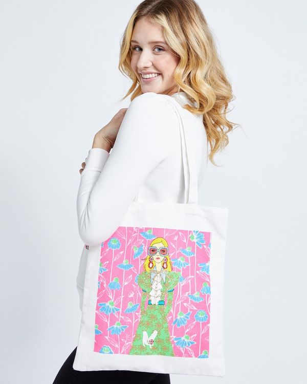 Savida Glitter Printed Tote Bag
