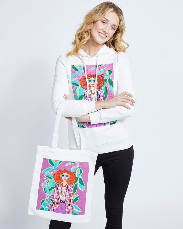 Savida Glitter Print Tote Bag