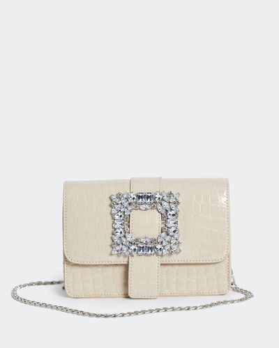 Savida Croc Jewel Buckle Bag