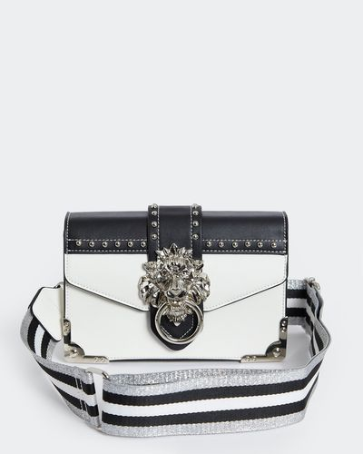 Savida Lion Buckle Bag With Studs