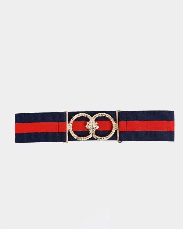 Savida Stripe Elastic Rope Buckle Belt