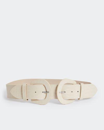 Savida Croc Double Buckle Belt
