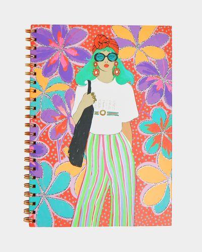 Savida A4 Glitter Print Notebook