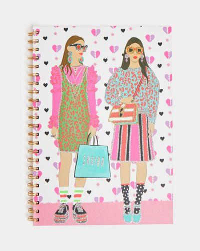 Savida A4 Glitter Two Girls Notebook