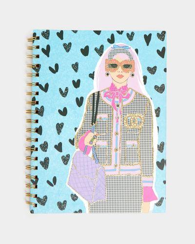 Savida B5 Glitter Print Notebook