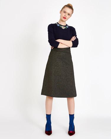 navySavida Knit Skirt With Lurex