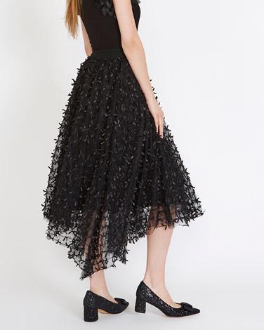 blackSavida Ribbon Tulle Skirt