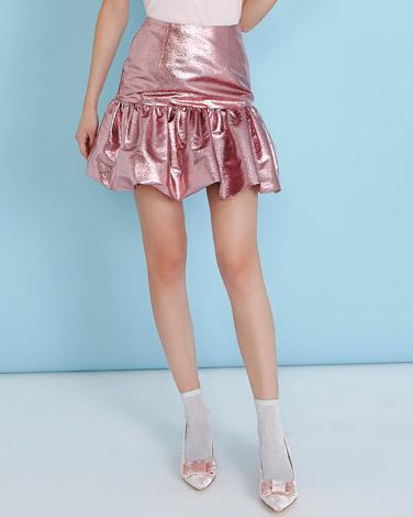 pinkSavida Metallic Skirt