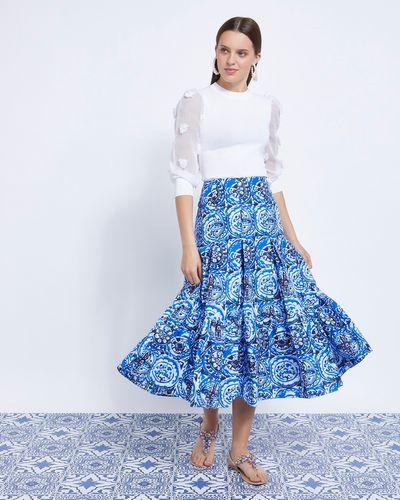 Savida Aztec Panel Midi Skirt