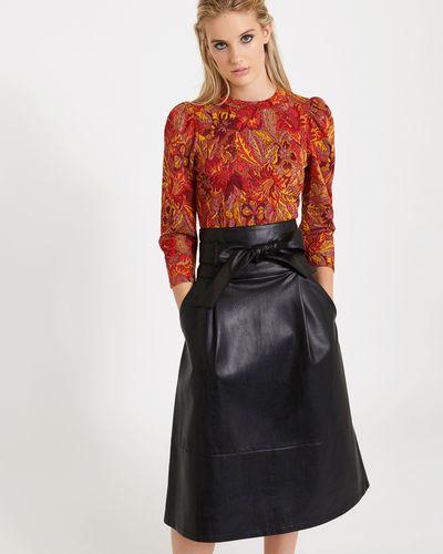 Savida PU Midi Skirt
