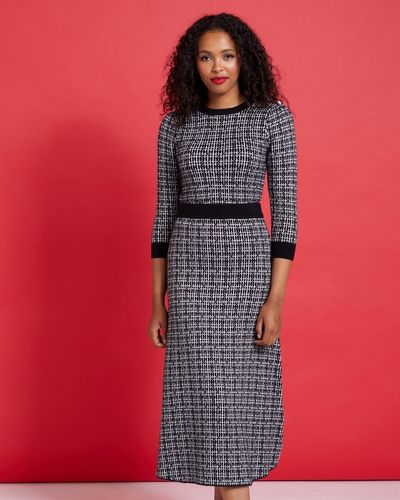 Savida Check Lurex Co-Ord Skirt