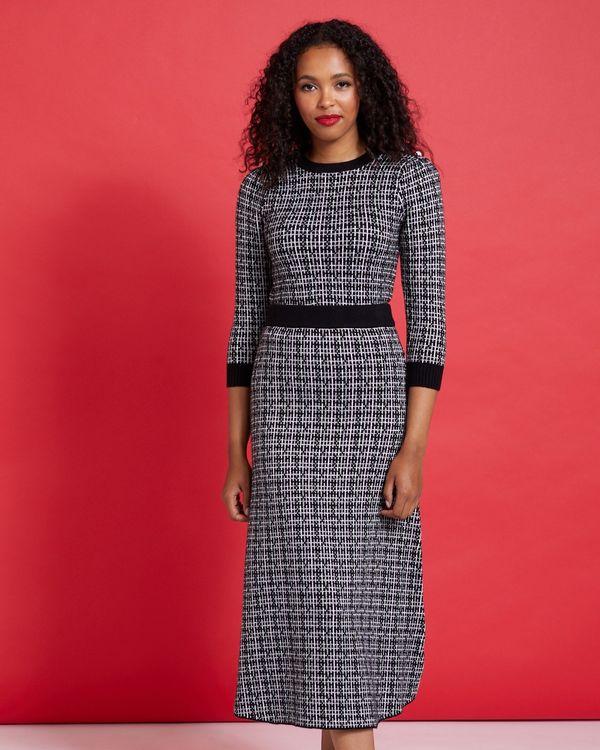 Savida Check Lurex Co-Ord Skirt
