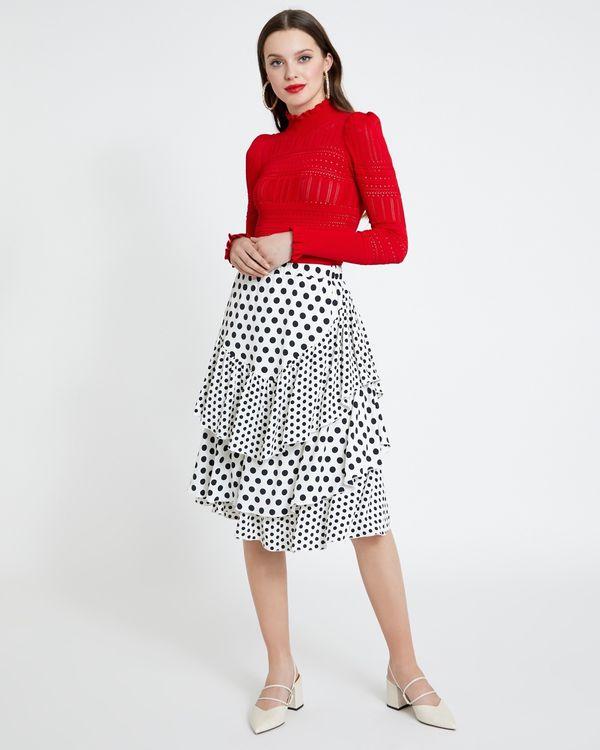 Savida Polka Dot Pleat Skirt