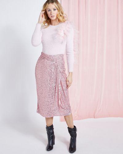 Savida Twist Sequin Midi Skirt thumbnail