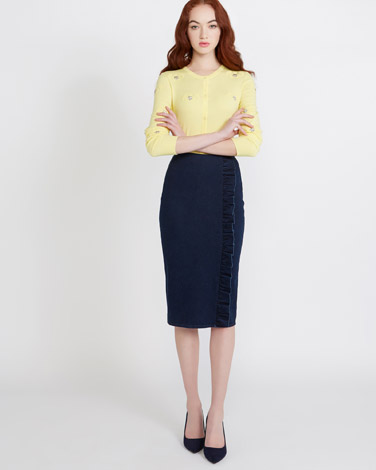 denimSavida Ruffle Denim Skirt