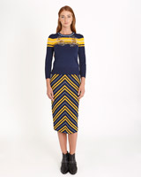 navy Savida Striped Co-Ord Skirt