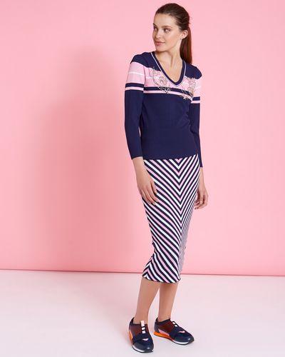 Savida Striped Co-Ord Skirt thumbnail