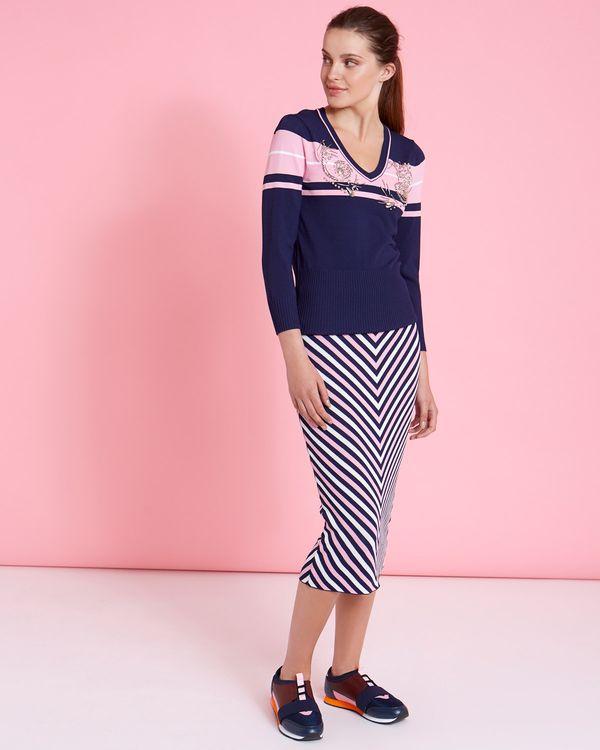 Savida Striped Co-Ord Skirt