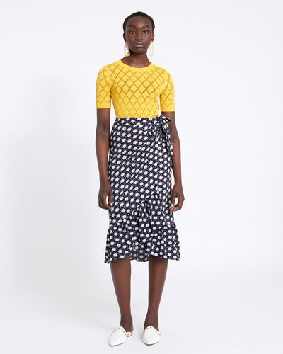Savida Skirt With Daisy Flower Print