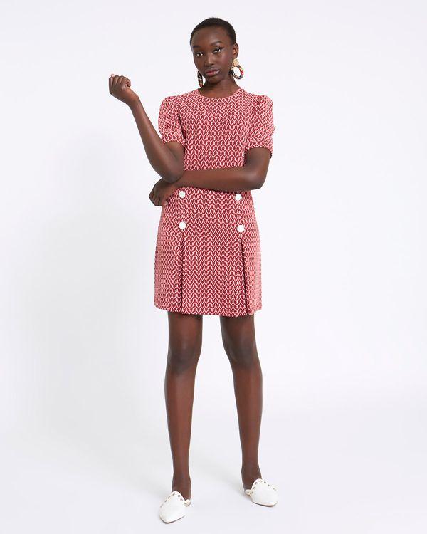 Savida Jacquard Zig Zag Skirt With Pleat