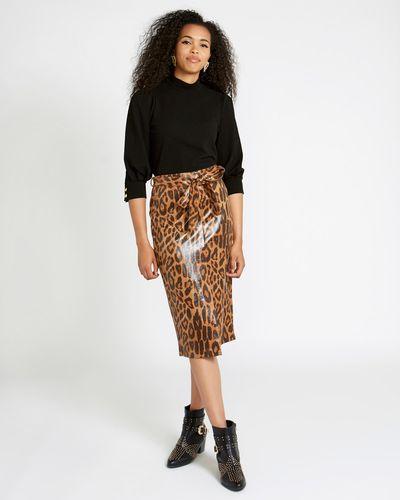 Savida Leopard Print Skirt