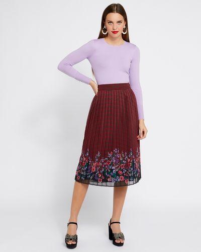 Savida Pleated Print Skirt