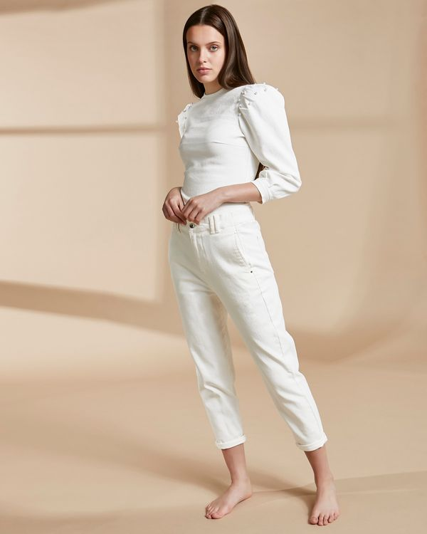 Savida Organic White Denim Trousers