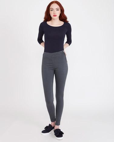 greySavida Heidi Side-Zip Skinny Fit Jeans