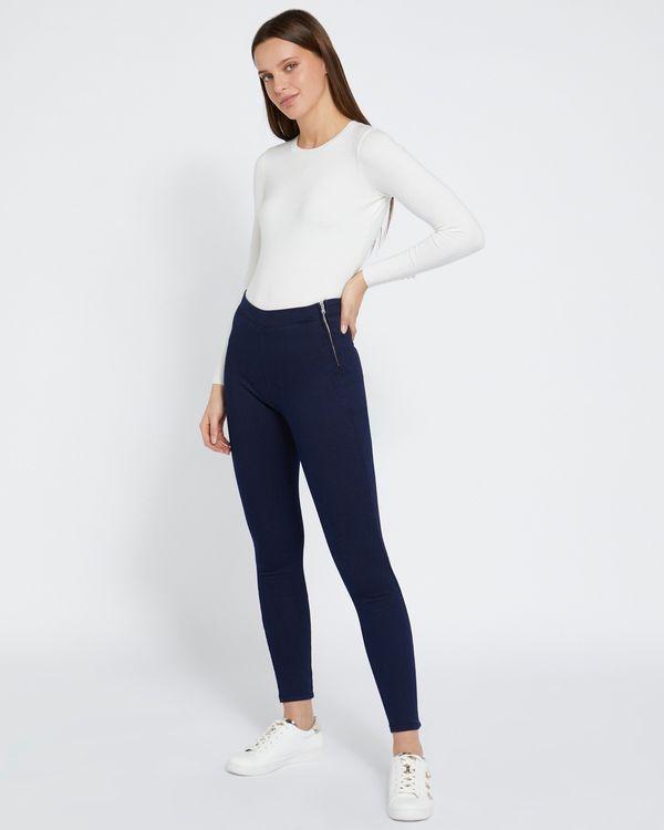 Savida Heidi Side-Zip Skinny Fit Jeans