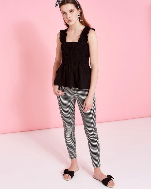 Savida Gingham Pattern Jeans