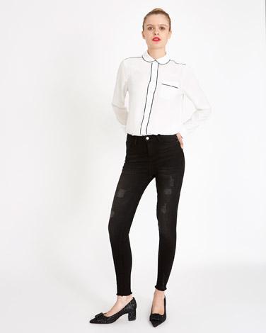 blackSavida Frayed Hem Jeans