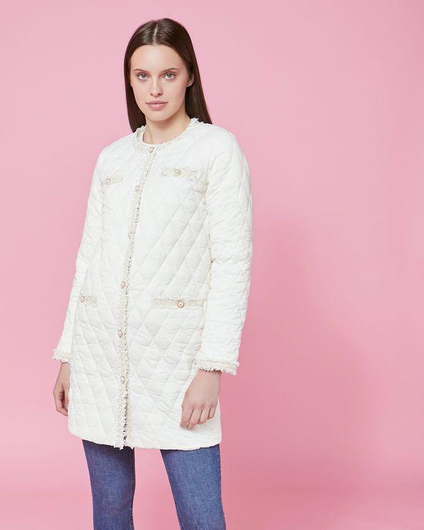 Savida Tweed Trim Puffa Jacket