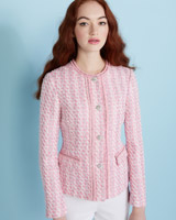 pink Savida Tweed Jacket
