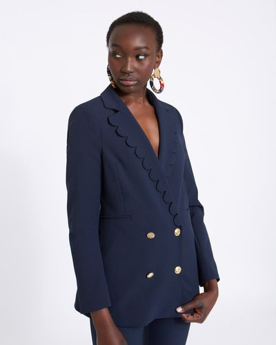 Savida Scallop Blazer With Buttons
