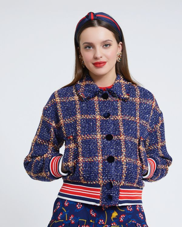 Savida Tweed Bomber Jacket
