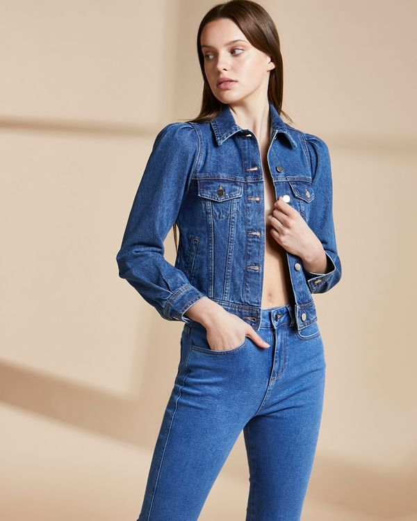 Savida Puff Sleeve Organic Denim Jacket