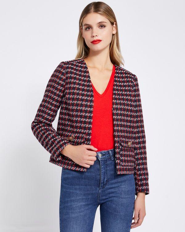 Savida Tweed Bow Detail Jacket