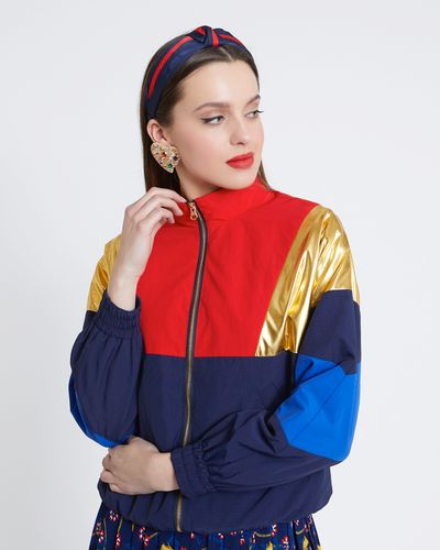 Savida Zip-Up Colourblock Jacket thumbnail