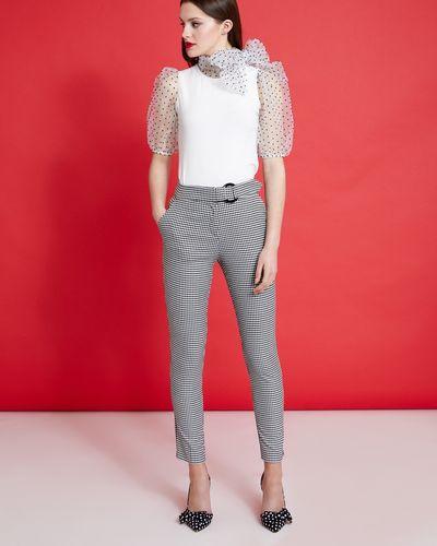 Savida Houndstooth Pattern Trousers