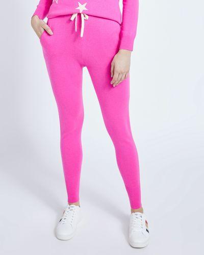 Savida Cashmere Blend Joggers Neon Pink