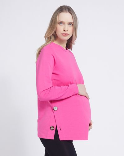 Savida Maternity Button Detail Sweatshirt thumbnail
