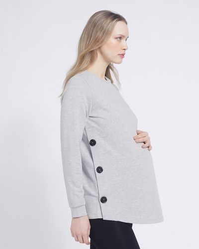 Savida Button Detail Maternity Sweatshirt