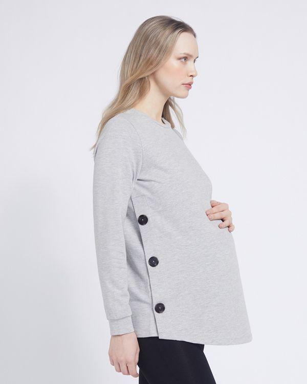 Savida Button Detail Maternity Sweatshirt