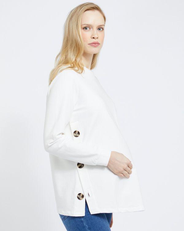 Savida Maternity Button Detail Sweatshirt