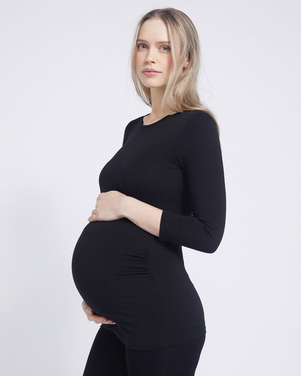 Savida Maternity Scoop Neck Top